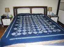 Wedding gift, using indigo fabric from Bai Village in Yunnan Province, China